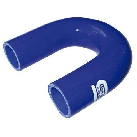 Coude Silicone 180degres 19mm Bleu