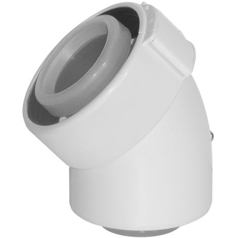 Coude ubbink condensation gaz/fioul pptl/pvc 45 blanc 80/125 la piece