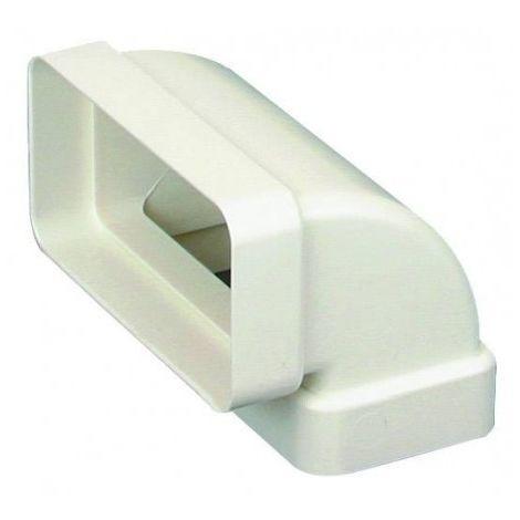 Coude vertical 90° CV pour conduit rectangulaire PVC rigide - 55 x 110mm - Avec joint