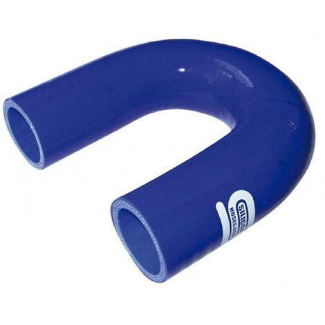 Coudes Silicones 180 degres - D22mm - Bleu