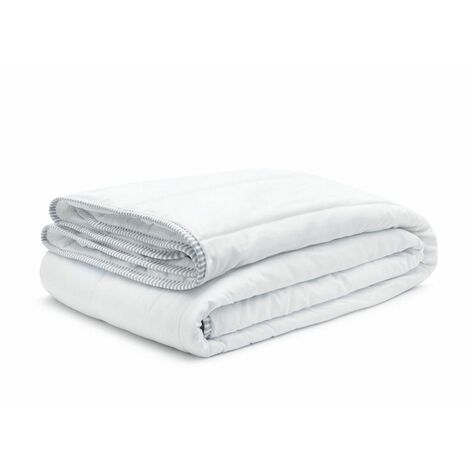 Couette 220x240 + 2 oreillers 60x60 satin luxe - Blanc