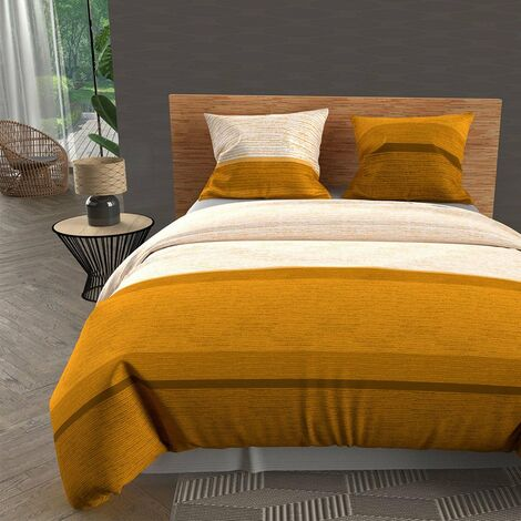 Couette 220x240 cm Stripe moutarde - Jaune