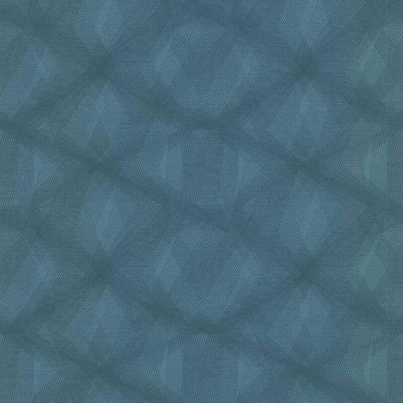 Image of Wallpaper Diamond Lines Blue - Blue - Couleurs&matières