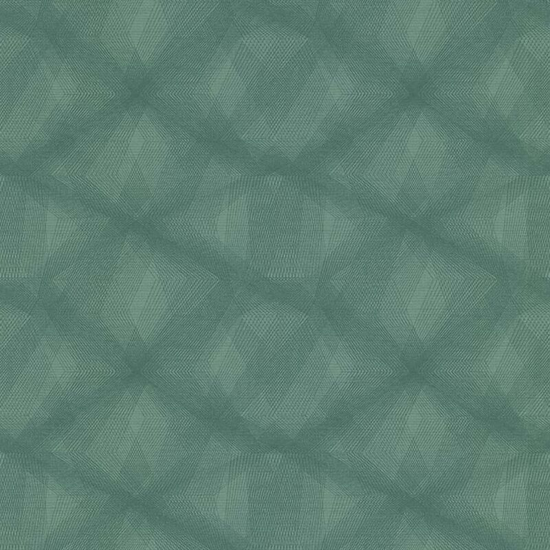 Image of Wallpaper Diamond Lines Green - Green - Couleurs&matières