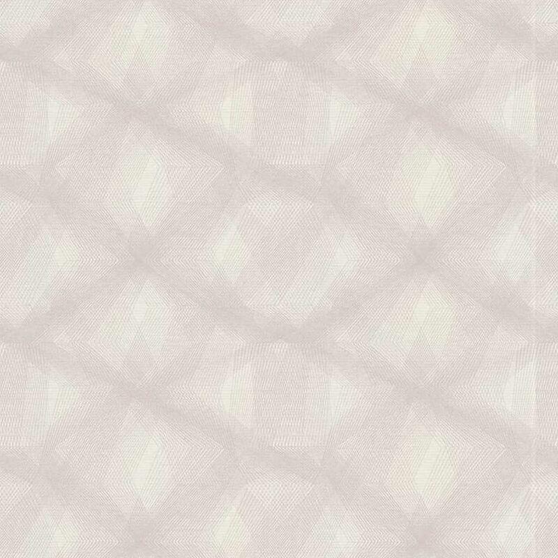 Image of Wallpaper Diamond Lines Grey - Grey - Couleurs&matières
