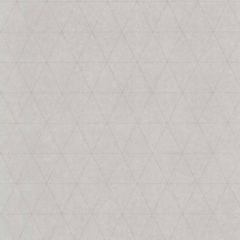 Image of Wallpaper Triangles Grey - Grey - Couleurs&matières