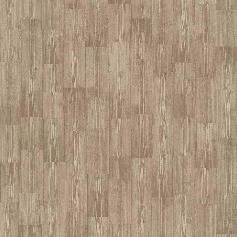 Image of Wallpaper Wood Brown - Brown - Couleurs&matières