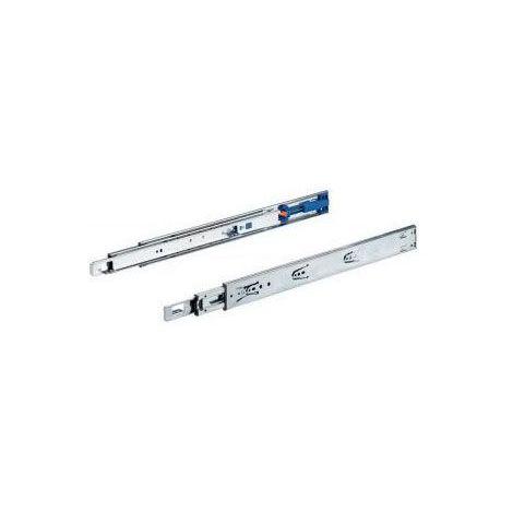Coulisses à billes ka 4532 am silent system - Longueur : 450 mm - Profondeur intérieur de caisson mini : 454 mm - HETTICH - Matériau : Acier