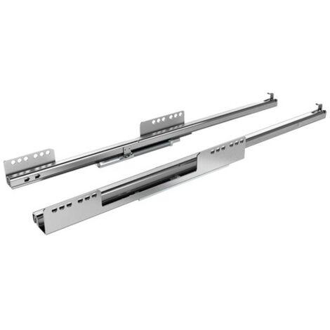 Coulisses à billes pour tiroir InnoTech Atira - charge 25kg - sortie partielle - Quadro 25 Stop Control - L 260 mm