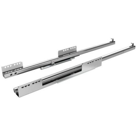 Coulisses à billes pour tiroir InnoTech Atira - charge 25kg - sortie partielle - Quadro 25 Stop Control - L 520 mm