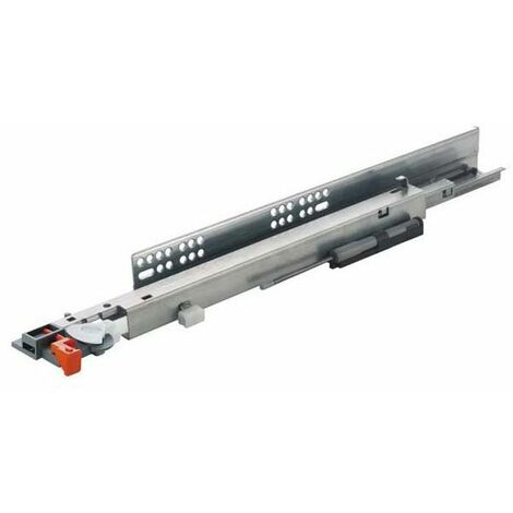 Coulisses push unica à tourillon sur amortisseur - Longueur : 350 mm - SALICE - Amortisseur : Avec