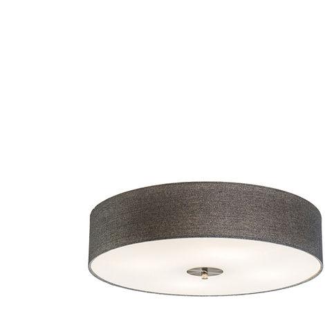 Country ceiling lamp gray 50 cm - Drum Jute