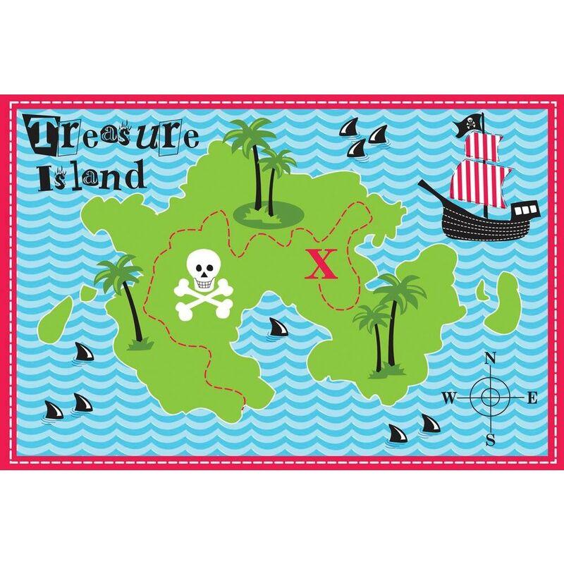 Image of COUNTRY CLUB Designer Mat 'Treasure Island' Kids Rug