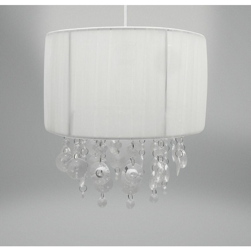 Image of Country Club Ribbons & Gems Light Fitting - White (24 x 16.5cm) - BEAMFEATURE