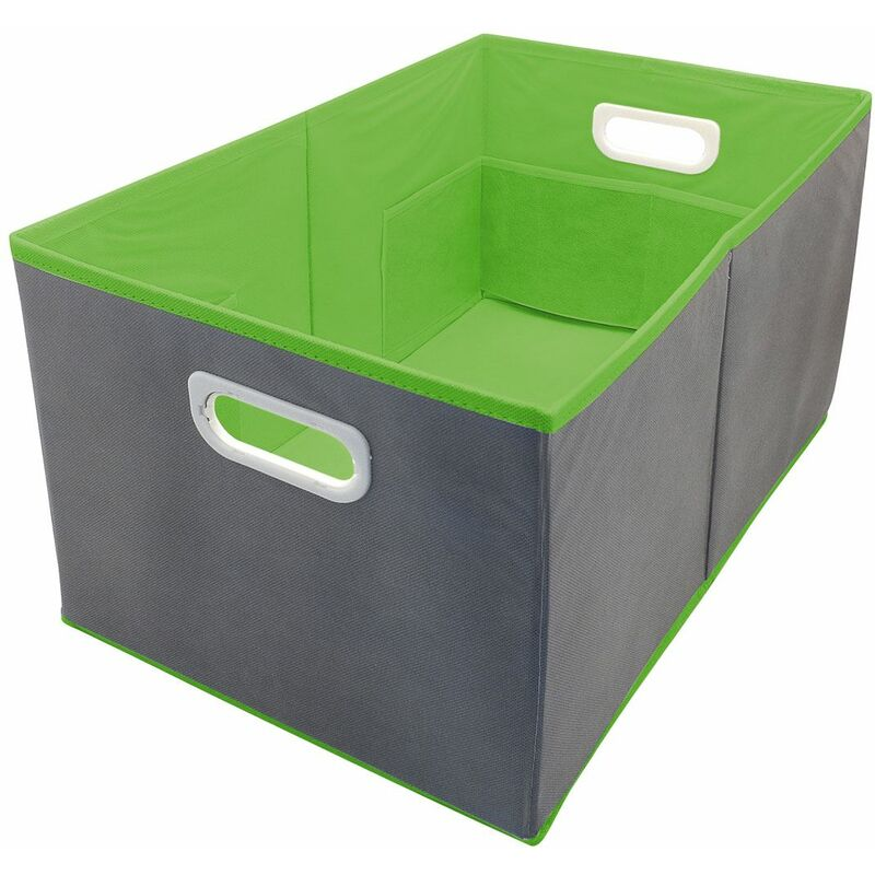 Image of Country Club Storage Box Multi Compartment Large Folding Green - BEAMFEATURE