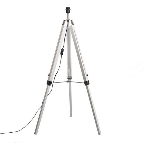 Country floor lamp white without shade - Tripod
