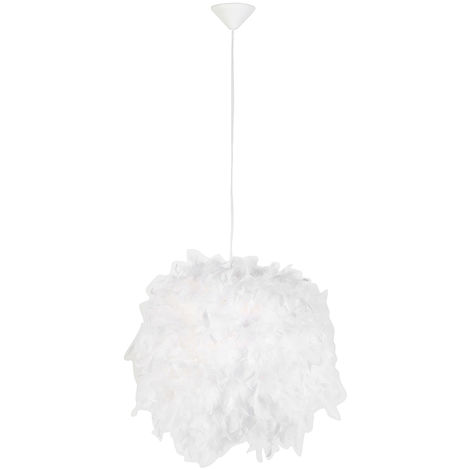 Country hanging lamp white - Feather