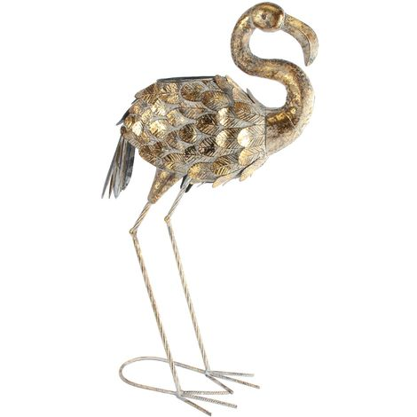 Country Living Metal Bird - Flamingo