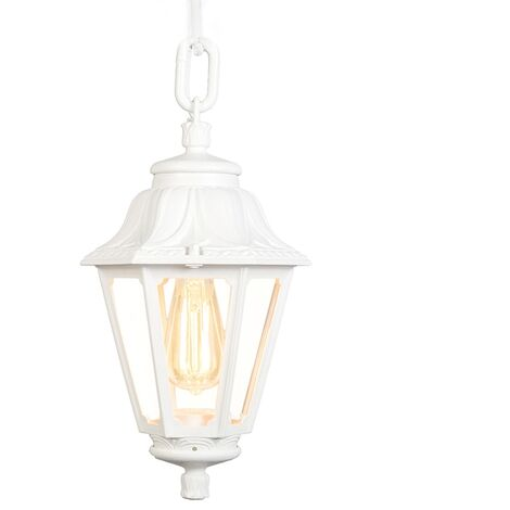 Country Outdoor Pendant Lamp White IP44 - Anna