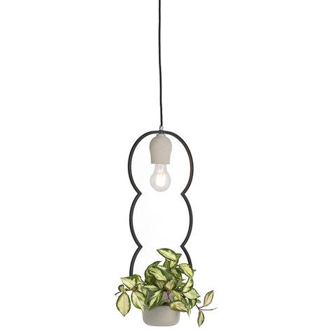 Country Pendant Lamp Concrete/Stone - Fauna B