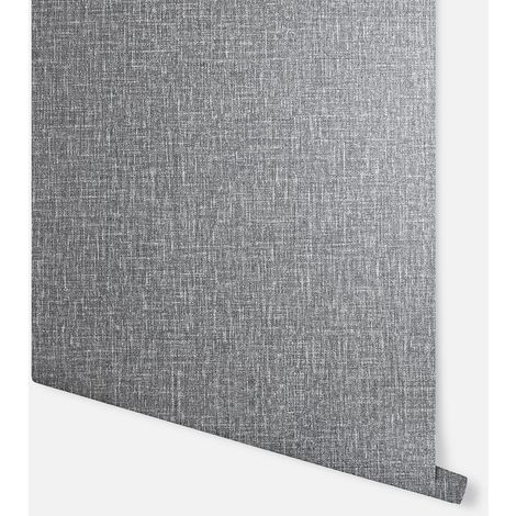 Country Plain Charcoal Wallpaper - Arthouse - 295000
