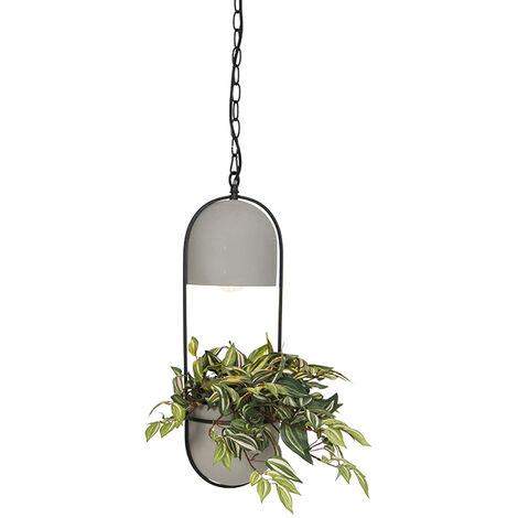 Country Round Pendant Lamp Concrete/Stone - Fauna A