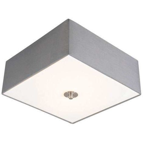 Country Square Ceiling lamp 35cm Grey - Drum