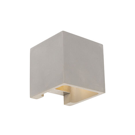 Country Square Wall Lamp Concrete - Alban