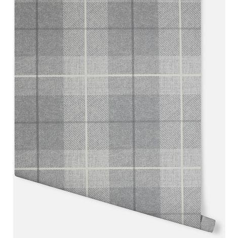 Country Tartan Grey Wallpaper - Arthouse - 294901