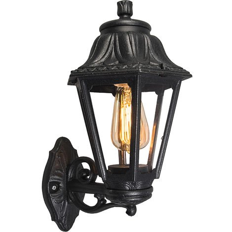 Country Wall Lantern Black IP44 - Anna