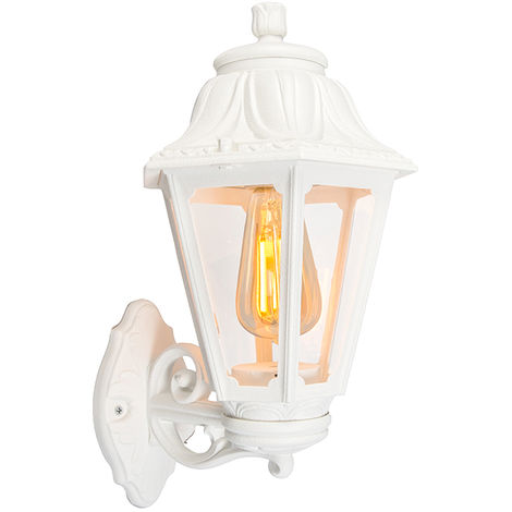 Country wall light white IP44 - Anna