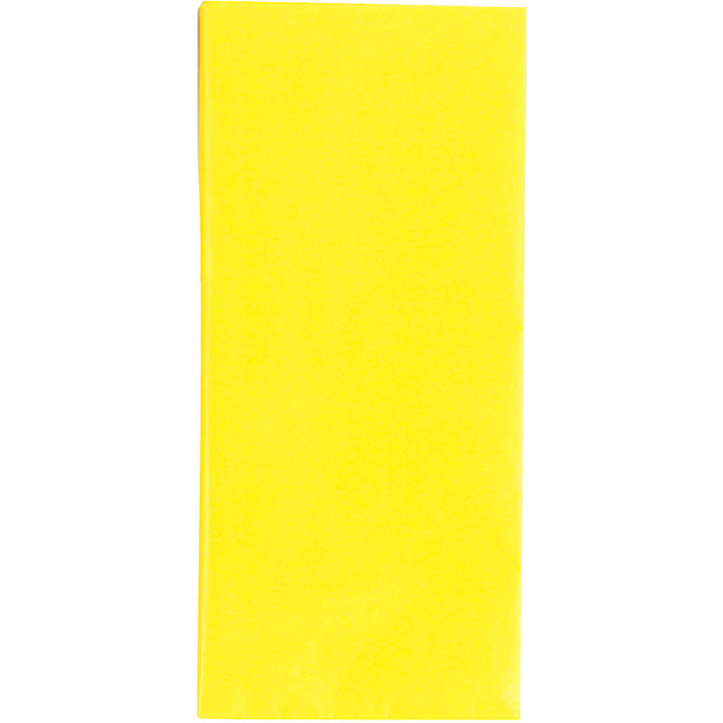 Image of County 10 Sheets Yellow Tissue Papers (12 Pack) (50 x 70cm) (Yellow)