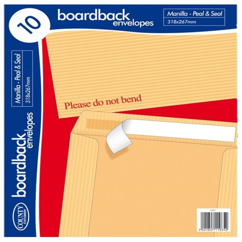 Image of Board Back Envelope (Pack of 10) (One Size) (Brown) - County Stationery