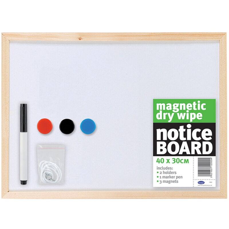 Image of Magnetic Whiteboard (40cm x 30cm) (White) - County Stationery