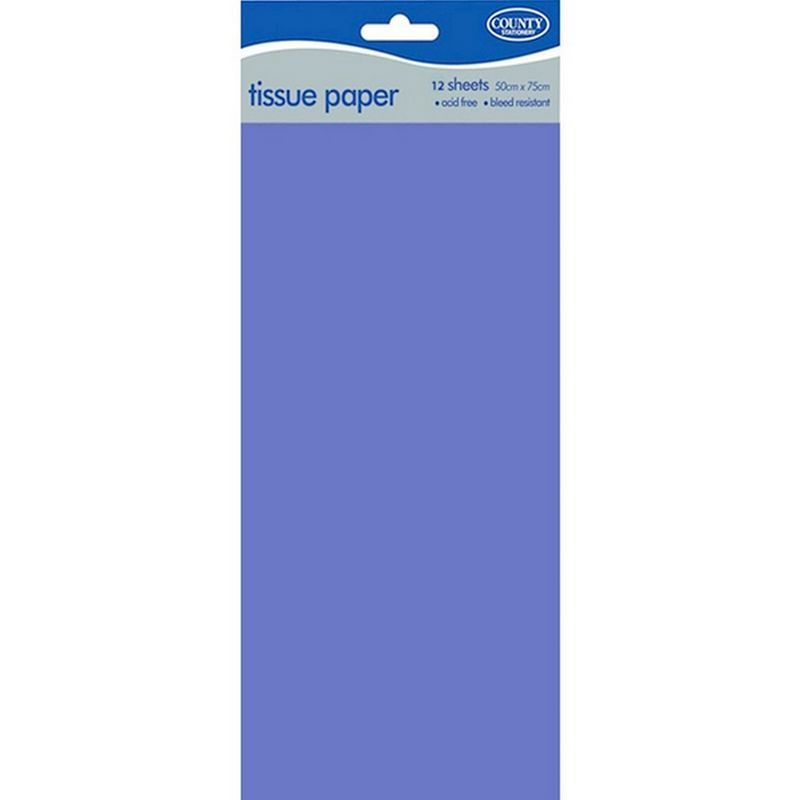 Image of County Tissue Papers (12 Pack) (50 x 75cm) (Baby Blue)