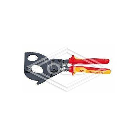Coupe-câbles à cliquet Knipex VDE capacité: 380 mm², Ø 52 mm