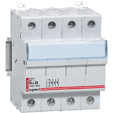Coupe-circuit sectionneur - 3P+N - cartouche cylind ind 10x38 - 500 V~