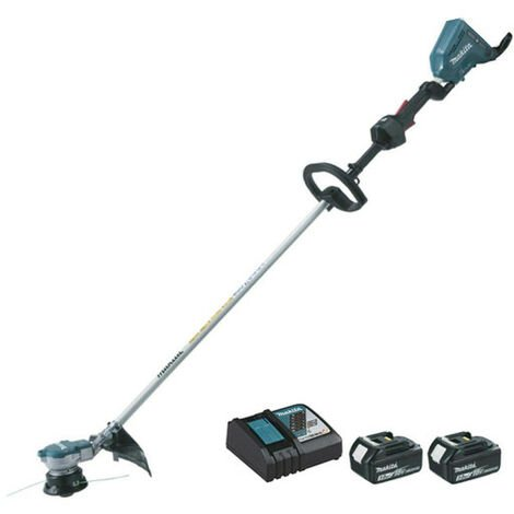 Coupe herbe Brushless MAKITA 18V - 2 batteries BL1830 3.0Ah - 1 chargeur rapide DC18RC DUR364LRF2