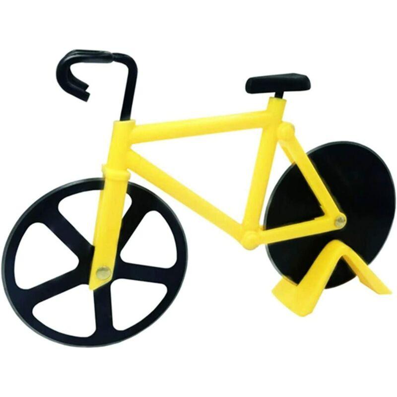 Bares - Coupe-pizza pour bicyclette, coupe-pizza double en acier inoxydable