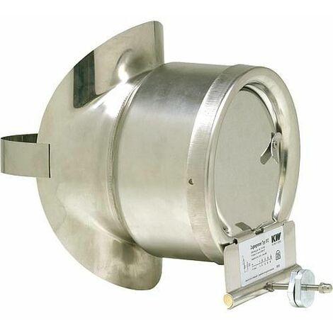 Coupe-tirage aus acier inoxadable avec etrier pour tuyau d echappement 180 mm