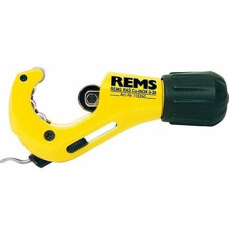 """Coupe-tube Rems RAS Cu-inox pour tubes diam 3-35mm 1/8-1 3/8"""" ébavureur intégré (lame échangeable)"""