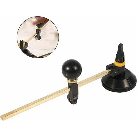 Coupe-Verre Circulaire avec Ventouse Outils de Coupe, Diamant Coupe Diamètre du Cercle 400 mm pour Amateurs Coupeurs de Verre Professionnels