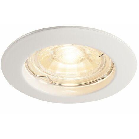 """main image of """"Coupelle Fixe Ronde SlV Pika Pour Ampoules LED GU10/qpar51 Avec Clips Ressorts Blanc"""""""