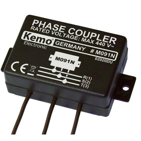Coupleur de phase (kit monté) Kemo M091N Tension dentrée (plage): 400 V/AC (max.)