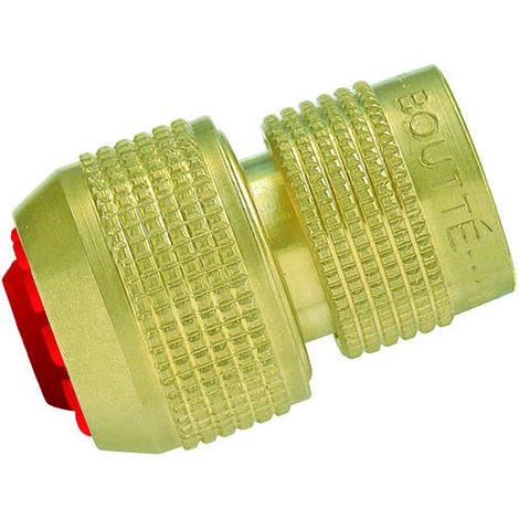 Coupleur rapide laiton aquastop pour tuyau Ø15