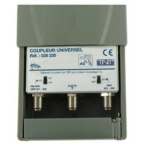 COUPLEUR UNIVERSEL SEDEA | 2 ENTRÉES (FM – VHF – UHF + UHF)