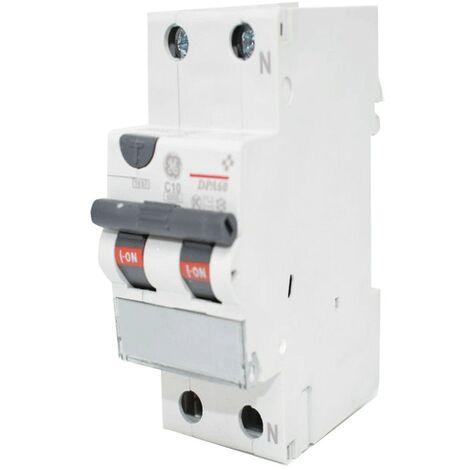 Courant résiduel disjoncteur GE 10A 6 KA 0,03 UN Type de Courbe C 608559