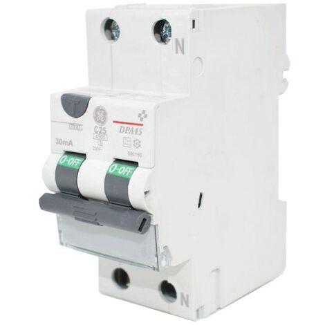 Courant résiduel disjoncteur GE 25A 4.5 KA 0,03 UN Type de Courbe C 690160