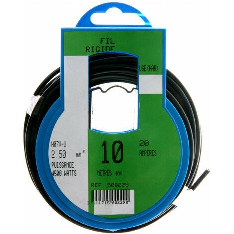 COURONNE 10M HO7V-U 2,5 NOIR PROFIPLAST PRP500229
