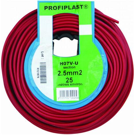 COURONNE 25M HO7V-U 2,5 ROUGE PROFIPLAST PRP500256